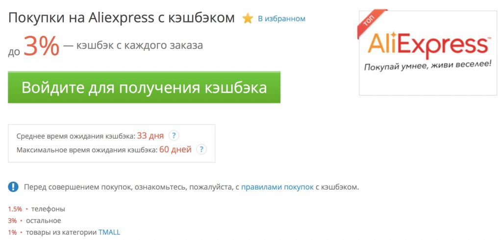 Кэшбэк в АлиЭкспресс - ТОП-4 лучших сервисов!